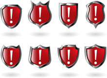 The Set Vector Red Shield Royalty Free Stock Photography
