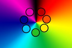 Free The Seven Colors Of The Chakras, The Color And Energy Of The Human Aura Stock Images - 162189914