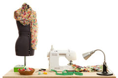 Free The Sewing Machine Costs On A Table Royalty Free Stock Images - 70358489
