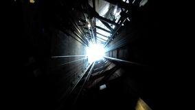 Free The Shaft Elevator Of Auckland Sky Tower Going Down Royalty Free Stock Image - 39538666