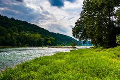 The Shenandoah River, In Harpers Ferry, West Virginia. Royalty Free Stock Image