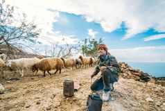 Free The Shepherd The Bedouin Makes Hot Tea In The Beautifull Place In The Jordanian Valley Royalty Free Stock Photo - 145928285
