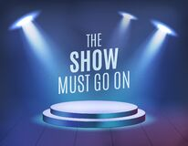 Free The Show Must Go On . High Quality Realistic Sportlight For Your Design . Isolated Vector Elements Stock Images - 205874634