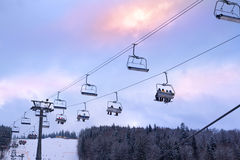 The Ski Lift Stock Image
