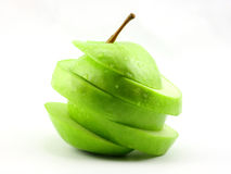 Free The Sliced Green Apple Stock Photo - 4603110