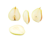 The Sliced Yellow Pear Royalty Free Stock Image