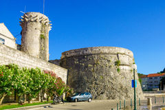 Free The Small Governor Tower And The West Walls, Korcula Stock Photography - 60077462
