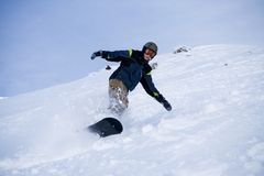 The Snowboarder Royalty Free Stock Photo