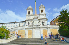 The Spanish Steps, Seen From Piazza Royalty Free Stock Photography