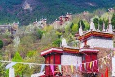The Spring Of The Tibetan Village In Danba Stock Photos