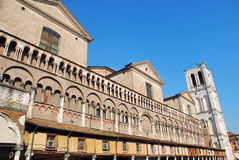 The Square And Dome - Ferrara Royalty Free Stock Photo