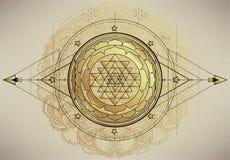 Free The Sri Yantra Or Sri Chakra, Form Of Mystical Diagram, Shri Vidya School Of Hindu Tantra Symbol. Sacred Geometry Vector Royalty Free Stock Photos - 172504298
