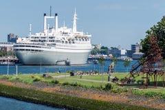 The SS Rotterdam V In Rotterdam Harbor Stock Photos