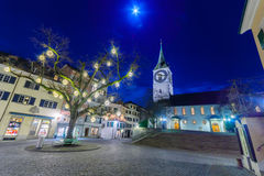 The St. Peter Church, Zurich Royalty Free Stock Images