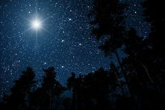 The Star Indicates The Christmas Royalty Free Stock Image