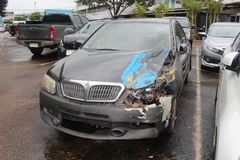 Free The State Of A Decayed Car That Be Inoperable Thing. Stock Photo - 125009730