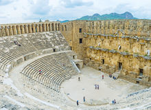 The Stone Amphitheater In Aspendos Stock Photo