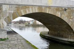 Free The Stone Bridge In Regensburg Stock Images - 108608064