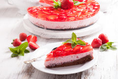 Free The  Strawberry Cake Royalty Free Stock Photos - 71298408
