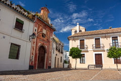 The Street Of Small Old Town, Cordoba, Spain Stock Images