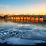 The Summer Palace, Winter Solstice, China Stock Photos