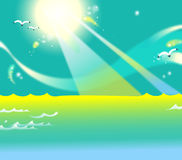 The Sun Above The Sea Royalty Free Stock Photo