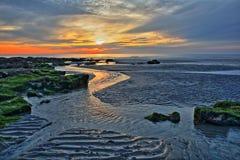 Free The Sunset At Ambleteuse Beach Near Wimereux, Cote D`Opale, Pas De Calais, Hauts De France, France Royalty Free Stock Photography - 99287487