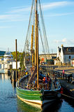 The Swan Tied Up Overnight In Inverness. Stock Photos