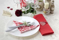 The Table Setting Royalty Free Stock Photos