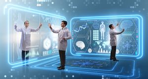 Free The Team Of Doctor In Remote Diagnostics Examination Concept Royalty Free Stock Photos - 112869048