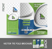 The Tech Shop Tri-Fold Brochure Royalty Free Stock Images
