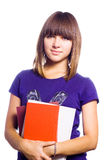 The Teenager At School. Royalty Free Stock Photography