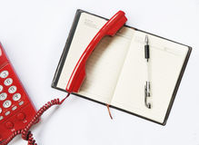 The Telephone And Ball Pen Stock Photos