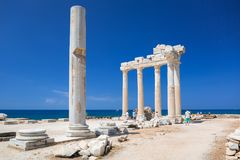 Free The Temple Of Apollo In Side At Sunny Day Royalty Free Stock Photography - 120203117