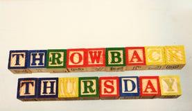 Free The Term Throwback Thursday Stock Photos - 93475323