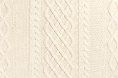 Free The Texture Of Beige Sweater Pullover. Knitted Background. Knitted Texture. A Sample Of Knitting From Wool. Handmade Sweater Stock Photography - 157519742