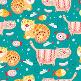 The Texture Of The Cats And Fish And Mice Royalty Free Stock Photography