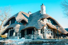 Free The Thatch House An Earl Young Mushroom House In Charlevoix Michigan Royalty Free Stock Images - 113458739