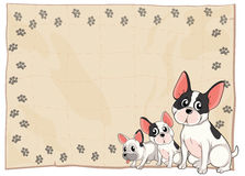The Three Puppies Royalty Free Stock Images