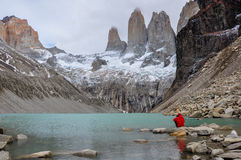 The Three Torres In Parque Nacional Torres Del Paine, Chile Royalty Free Stock Photos