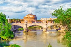 Free The Tiber River, Ponte Sant`Angelo Bridge, Sant`Angelo Castle. R Royalty Free Stock Image - 108955636