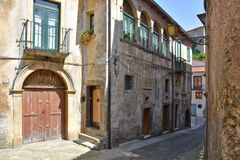 Free The Town Of Polla In The Province Of Salerno, Italy Stock Image - 182110671
