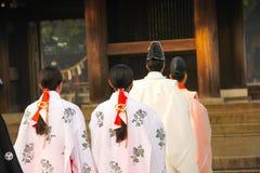 The Traditional Wedding In Meiji Shrine Tokyo , Japan. Royalty Free Stock Photos