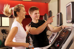 The Trenning In Fitness Centre Stock Photos