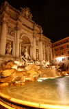 The Trevi Fountain At Night Stock Image