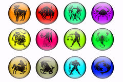 The Twelve Signs Of The Zodiac Royalty Free Stock Photos