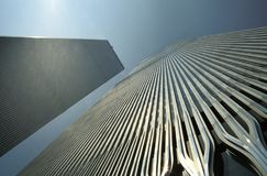 Free The Twin Towers Of The World Trade Centre Royalty Free Stock Image - 130866096