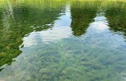 Free The Underwater Algae And The Reflection Of The Mountains In The River Stock Photography - 164998312