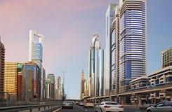 The United Arab Emirates. The Sheikh Zayed Road. Stock Images