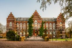 Free The University Library In Lund An Early Morning In Autumn Colours Royalty Free Stock Photography - 163704157